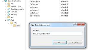 How to map the default document in iis residing inner folder - Stack ...
