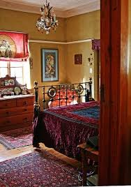 bohemian furniture and dishes oriental rugs along with mismatched vintage furniture create bohemian furniture