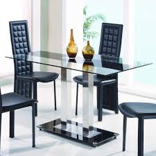 Metal Glass Dining Table Global Furniture D2108n Dt Glass Dining Table With Metal Legs