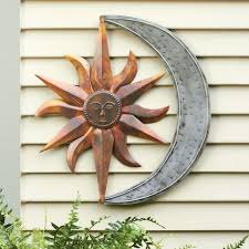 sun face outdoor wall decor excellent half face sun indoor outdoor metal wall art pertaining to sun face outdoor