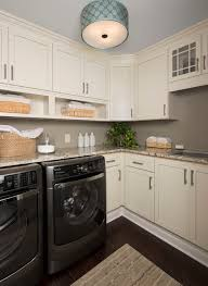 best lighting for laundry room. transitional laundry room use a flush mount light with drum shade to best lighting for