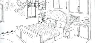 Bedroom Drawings Bedroom In One Point Perspective Interior Drawing Master  Bedroom Design Drawings