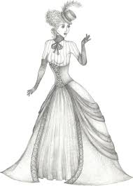 Coloring Pages Of Victorian Ladies How