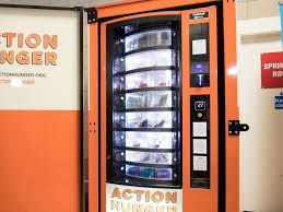 First Vending Machine Best Charity Launches World's First Vending Machine For The Homeless