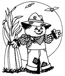 free printable scarecrow coloring pages best p