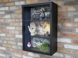 wall mounted storage cabinet glass