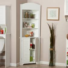 image of white corner hutch kitchen