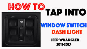 how to tap into the dash light circuit jeep wrangler 2011 2015 Jeep Jk Instrument Cluster Wiring Diagram how to tap into the dash light circuit jeep wrangler 2011 2015 youtube jeep wrangler instrument cluster wiring diagram
