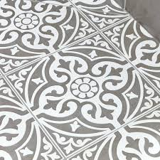 Patterned Vinyl Tiles Delectable Patterned Floor Tile Grey Patterned Floor Tiles X Mm Geometric