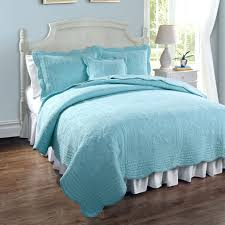 solid light teal blue twin quilt scalloped bedspread sky aqua ideas of solid blue duvet cover