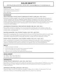 Kaleb Beatty S Resume