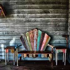 funky patio furniture. Wood Patio Furniture Ideas Salvaged Funky R
