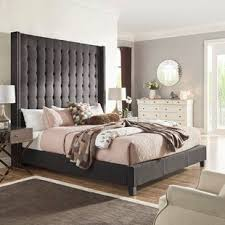 Tall Tufted Bed   Wayfair