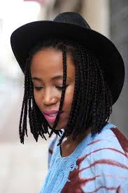 black with braided bob hairstyle