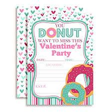 Valentines Day Invitations Inspiration Amazon Valentine's Day Donut Party Invitations Ten 44x44 Fill