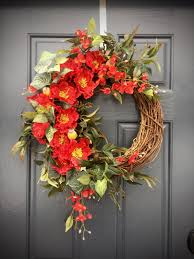 Decorating red door gifts photos : Red Spring Wreath, Red Decor, Red Door Wreaths, Spring Decor ...