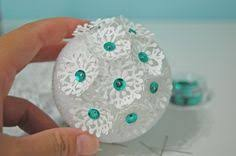 How To Decorate Styrofoam Balls easy Christmas ornament idea cover a styrofoam ball with paper 35