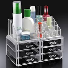 acrylic cosmetic organizer 6 drawers makeup case storage holder previous next