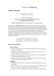 Best Executive Resume Format Fascinating Sample Resume Format Doc File Free Download Example Certificate