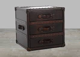 toberlone leather general collection vintage 3 drawer end table