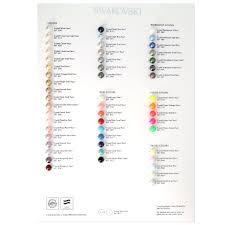 Pearl Color Chart Swarovski Crystal Pearls Color Chart 2017 Pearls