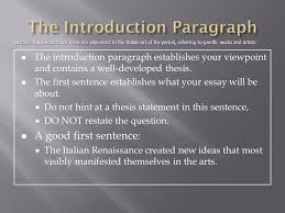 the ap european history response question ppt video online  17 the introduction paragraph