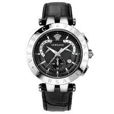 paris gallery versace versace v race chrono mens watch steel versace v race chrono mens watch steel black dial black strap 23c99d008 s009