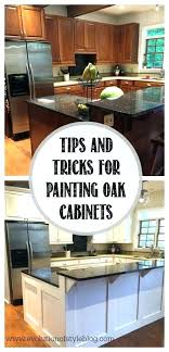 painting oak cabinets white before and after painted oak kitchen cabinets how to paint oak cabinets