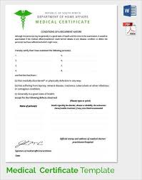 Medical Certificate Template