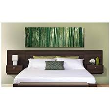 Platform bed with floating nightstands Bedroom Valhalla Designer King Platform Floating King Bed Headboard With Integrated Nightstands New Set King For Amazoncom Platform Bed With Floating Nightstands Amazoncom