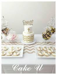 White And Gold Baptism Cake And Cookies Party Ideas Baptism