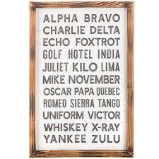 Alpha bravo charlie delta echo foxtrot golf. Aviation Alphabet Wood Wall Decor Hobby Lobby 1629575