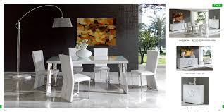 Dining Room White Contemporary Sets Dohatour - Contemporary dining room chairs