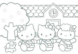 Hello Kitty Pictures Coloring Pages Coloring Baby Hello Kitty