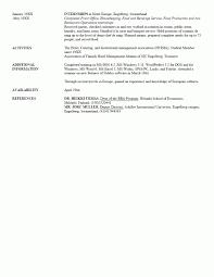 Resume Sample Cv Student Sample References For Resume Homeland
