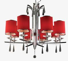 red modern living room chandelier modern red chandelier png image and clipart