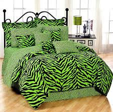 Zebra Lime Green Bedding Collection Comforter Set - Queen
