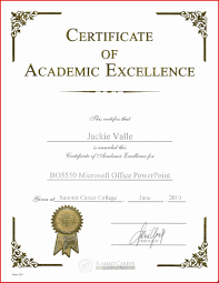 Award Certificate Template Powerpoint Certificate Template Fresh Academic Excellence Award 16