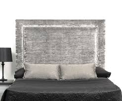 source white modern king size bed with upholstered headboard