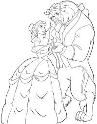 Luxury Beauty And The Beast Coloring Pages Free Coloring Pages