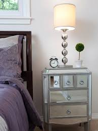 image of mirrored kids bedside table