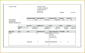Free Blank Printable Pay Stub Templates Form Format Stubs Template