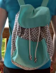 diy backpack sewing with drawstring and large pocket
