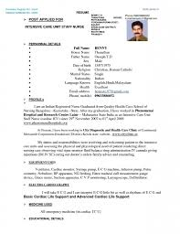 Staff Nurse Resume Format Resume Staff Nurse Resume Format Cover Letter Sample Doc Oncology