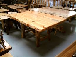 log rustic furniture amish. Rustic Pine Log Dining Table And Awesome Decoration Amish Kitchen Chairs Furniture