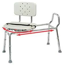 image of heavy duty sliding transfer bench with swivel seat