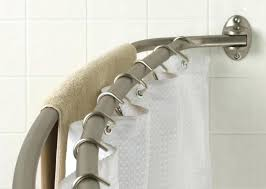 curved double shower rod double shower curtain rod curved double shower curtain rod bathroom with double