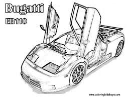 Cars coloring fast free bugatti race car pages 438217 throughout