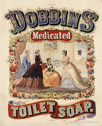 """Dobbins. Медицинское <b>туалетное мыло</b>"" США <b>1869</b>"
