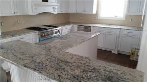 white ice granite kitchen and outdoor countertops